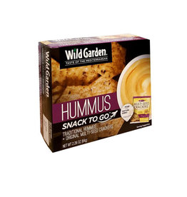 Wild Garden Wild Garden - Snack Box, Traditional Hummus & Original Multi-Seed Crackers