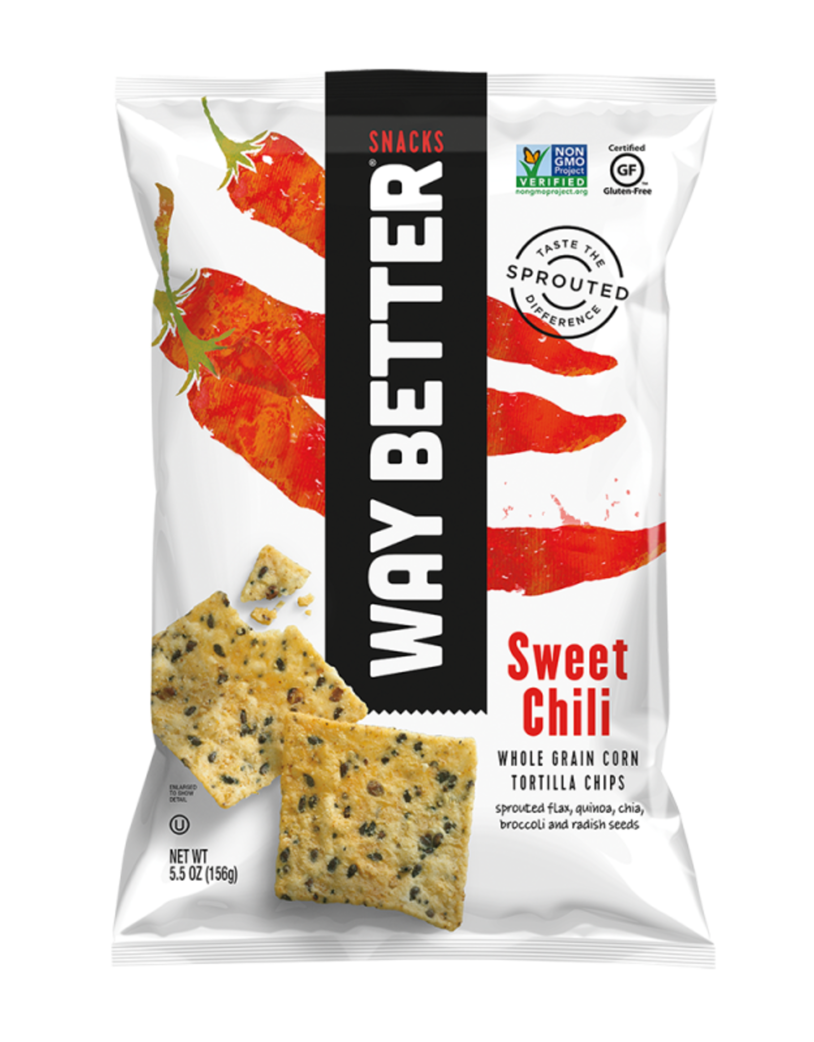 Way Better Way Better - Tortilla Chips, Sweet Chili (156g)