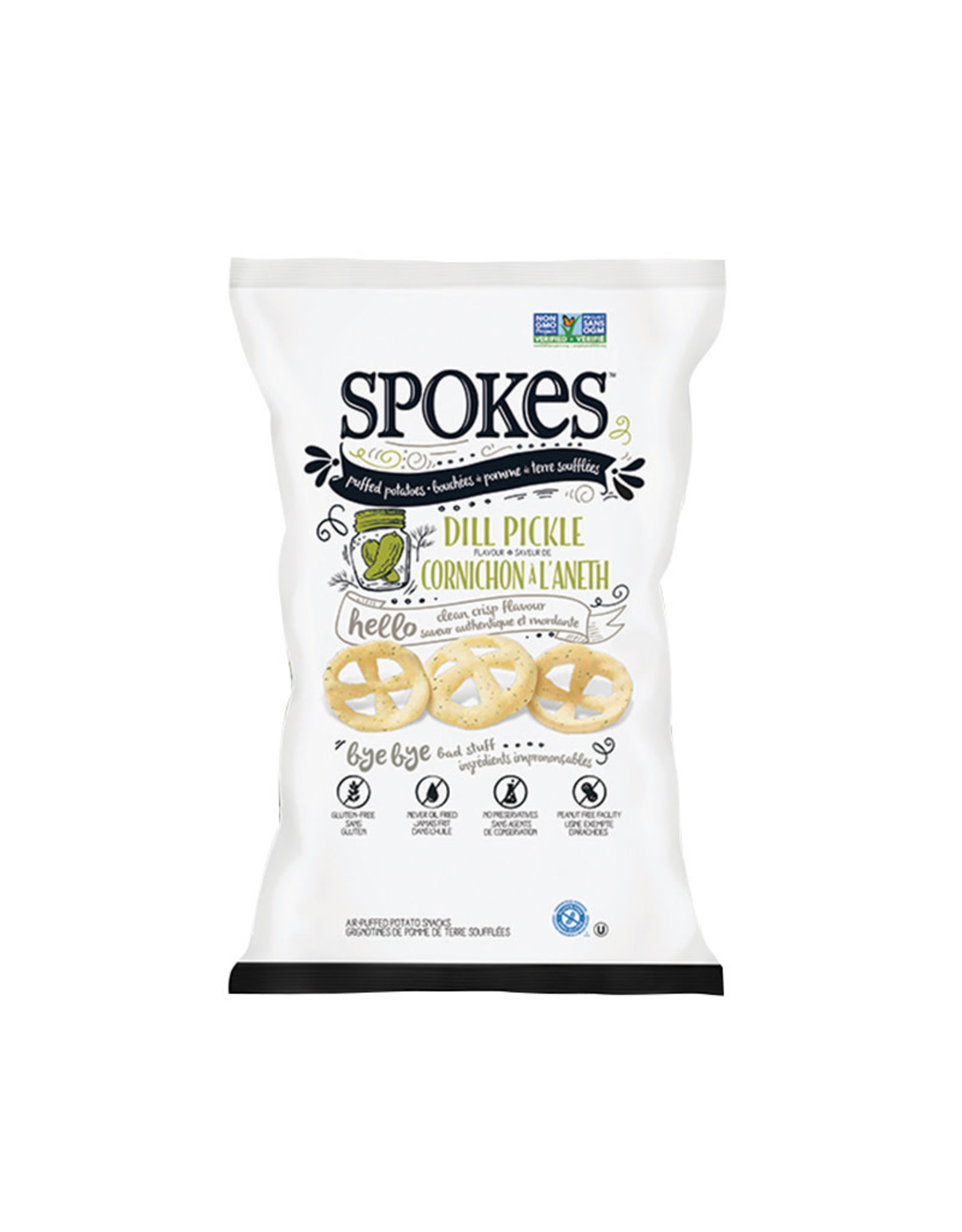 Spokes Spokes - Puffed Potatoes, Dill Pickle (80g)