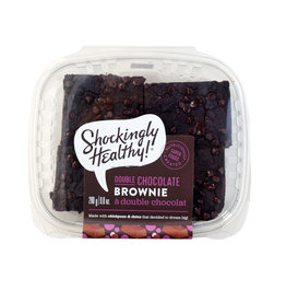 Shockingly Healthy Shockingly Healthy - Vegan Double Chocolate Brownie (4pk)