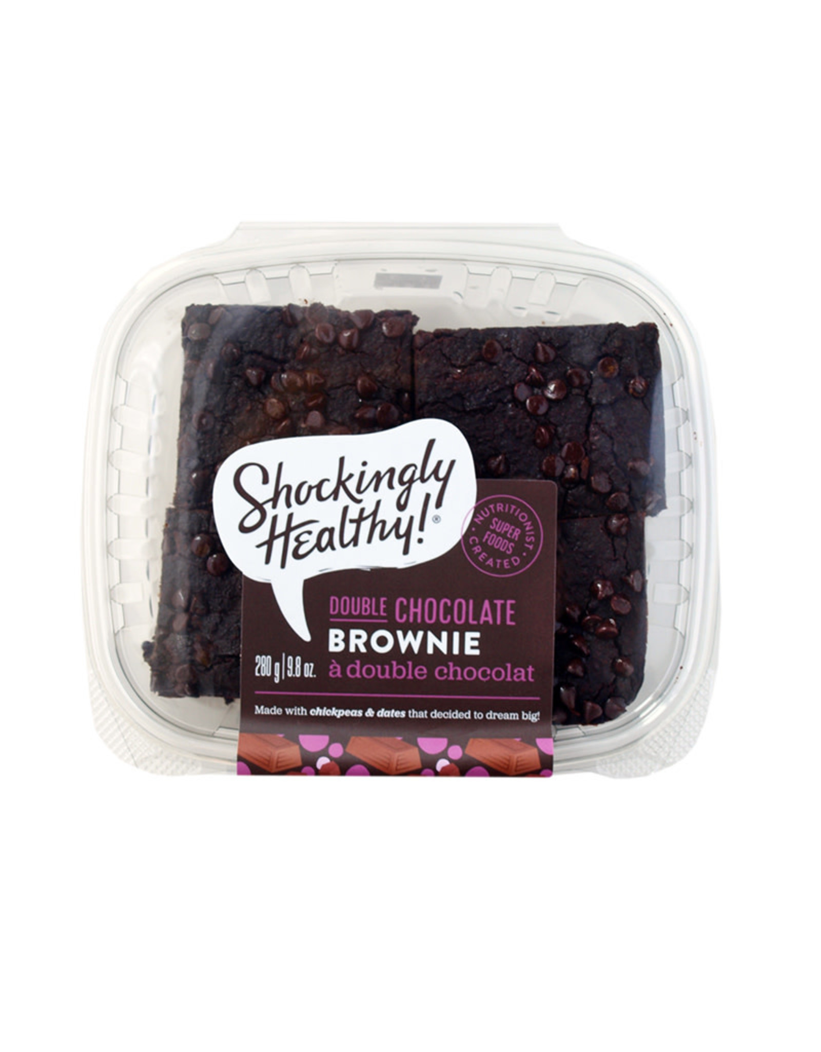 Shockingly Healthy Shockingly Healthy - Vegan Double Chocolate Brownie