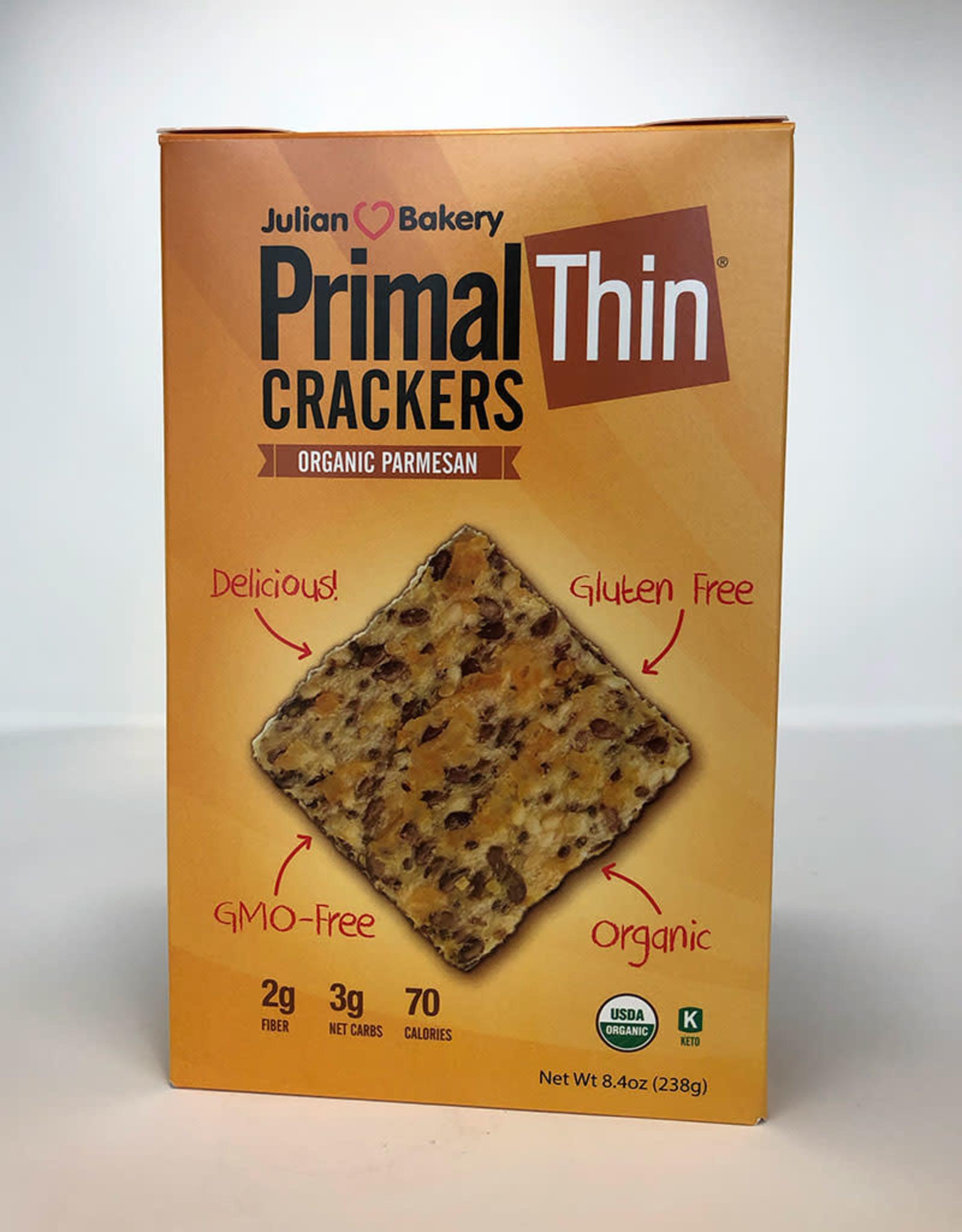 Julian Bakery Julian Bakery - Primal Thin Crackers, Organic Parmesan