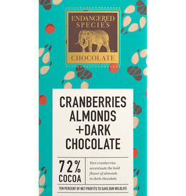Endangered Species Endangered Species - Dark Chocolate Bar, (Wolf) Cranberries & Almonds