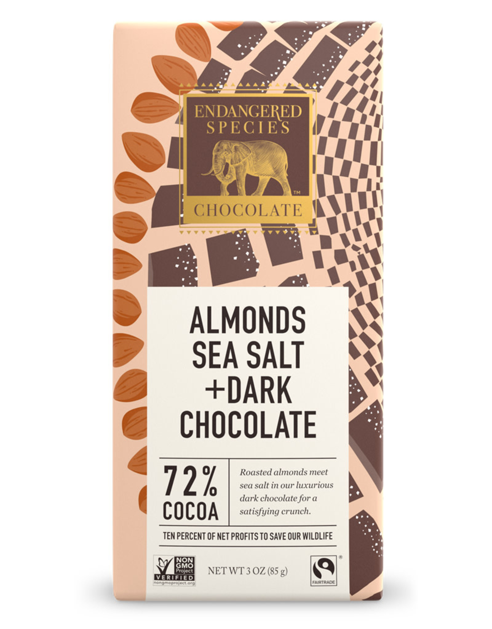 Endangered Species Endangered Species - Dark Chocolate Bar, (Owl) Dark Choc with Sea Salt