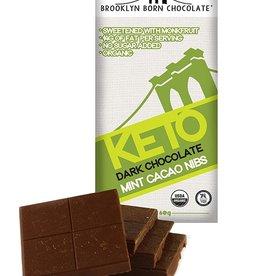 Brooklyn Born Chocolate Brooklyn - Keto Chocolate Bar, Mint w Cacao Nibs (60g)