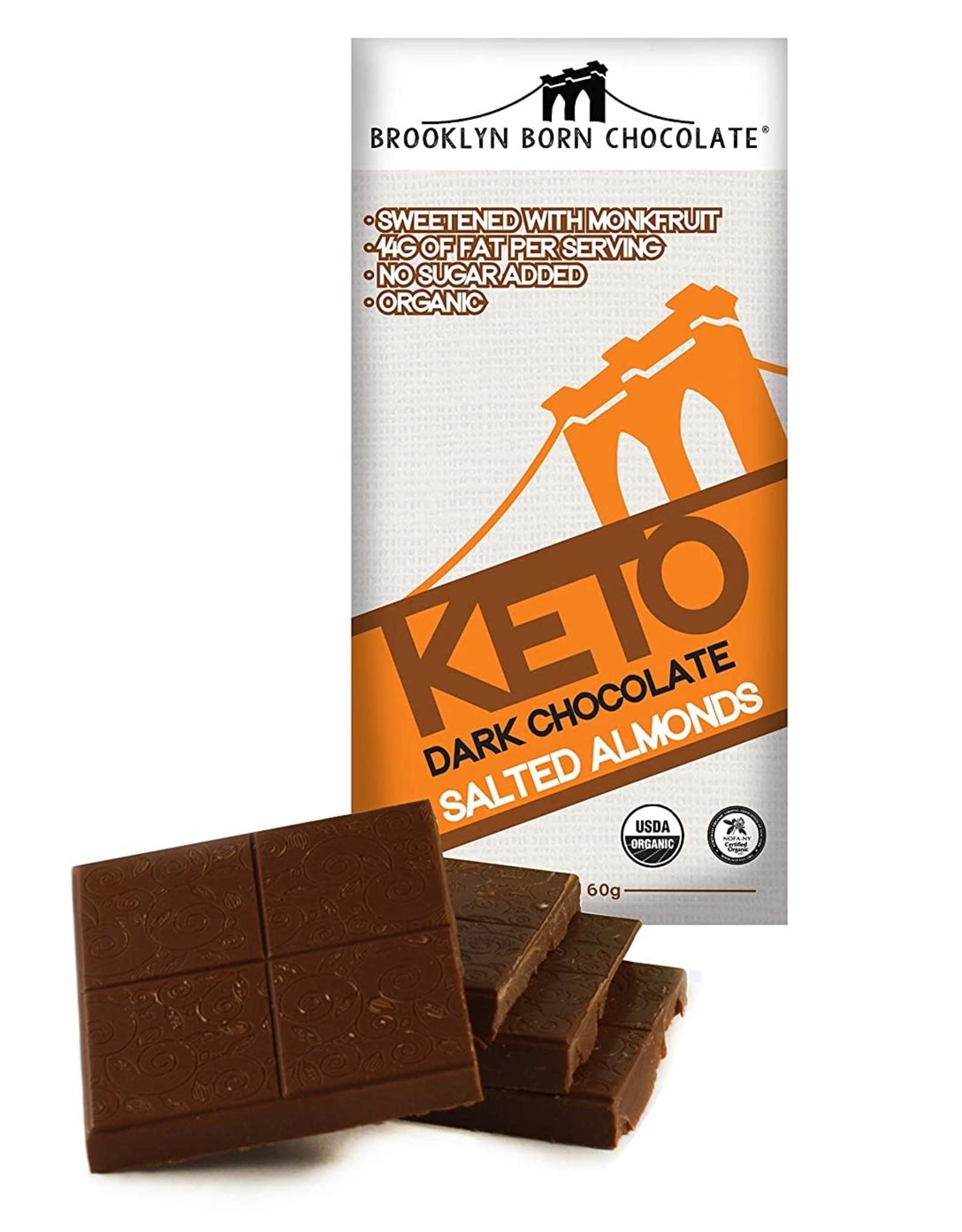 Brooklyn Born Chocolate Brooklyn - Keto Chocolate Bar, Salted Almond (60g)