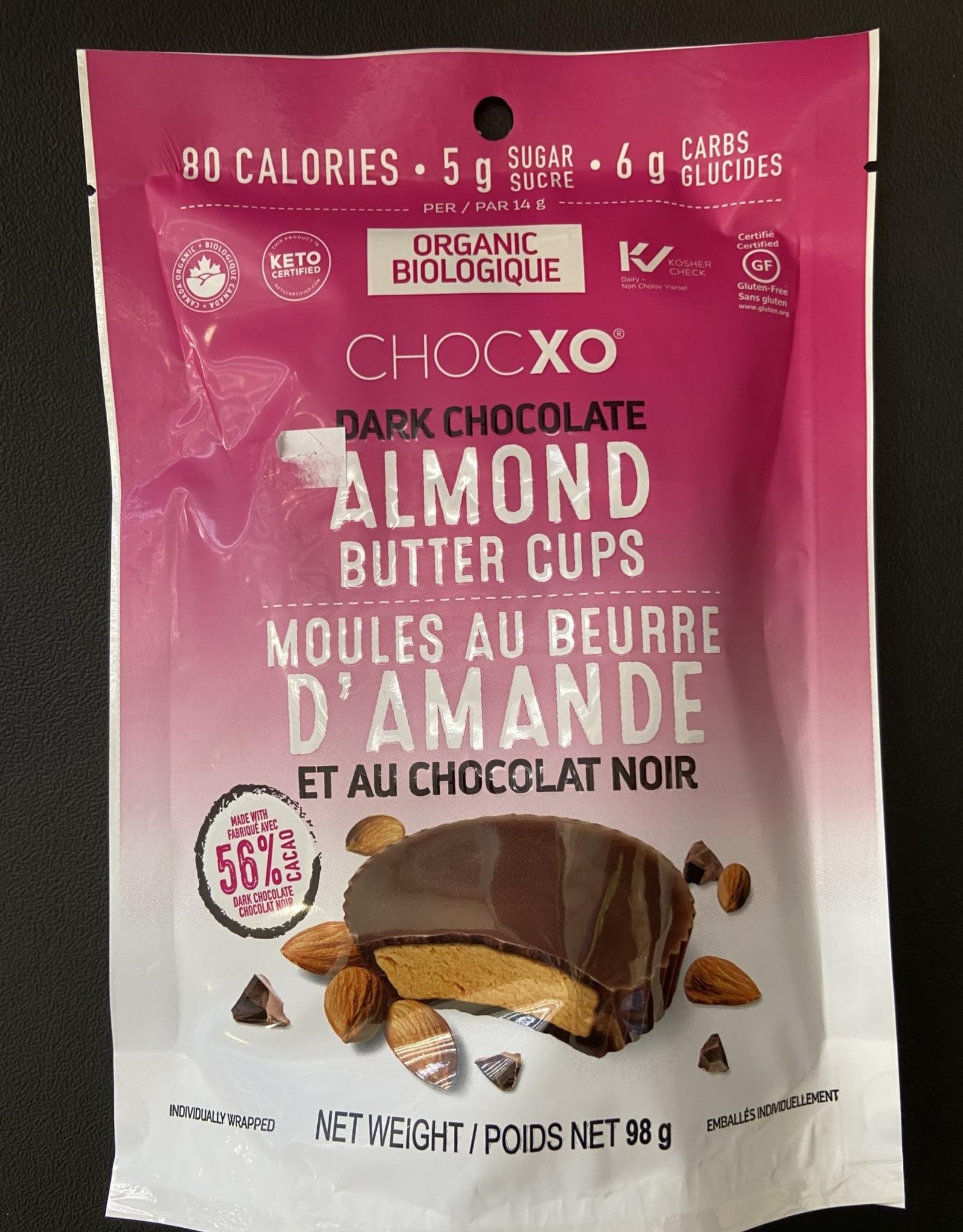 ChocXo CHOCXO - Dark Chocolate Almond Butter Cups, 98g