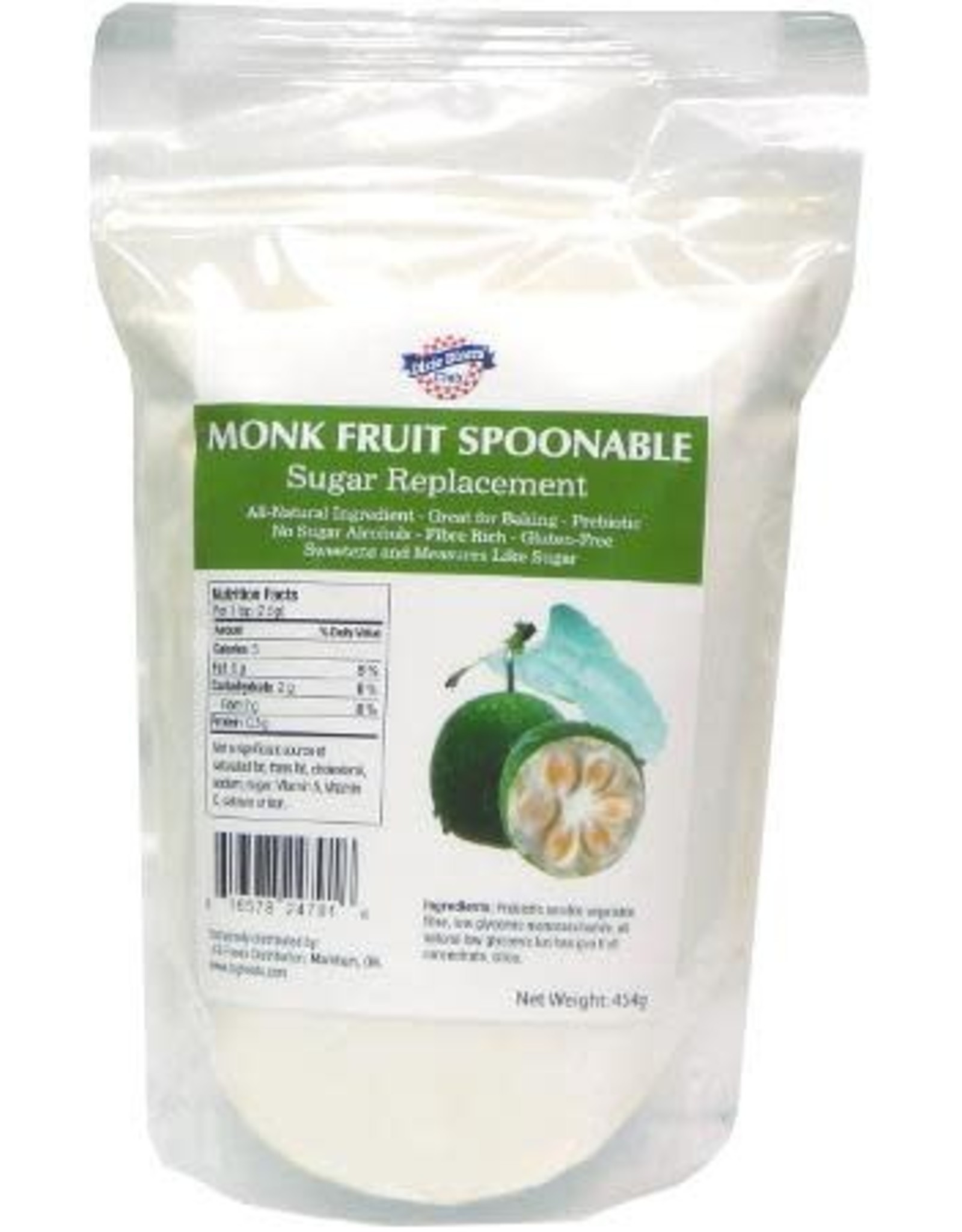 Indigo Dixie Diner-Monk Fruit Spoonable Natural Sugar Replacement, 454g