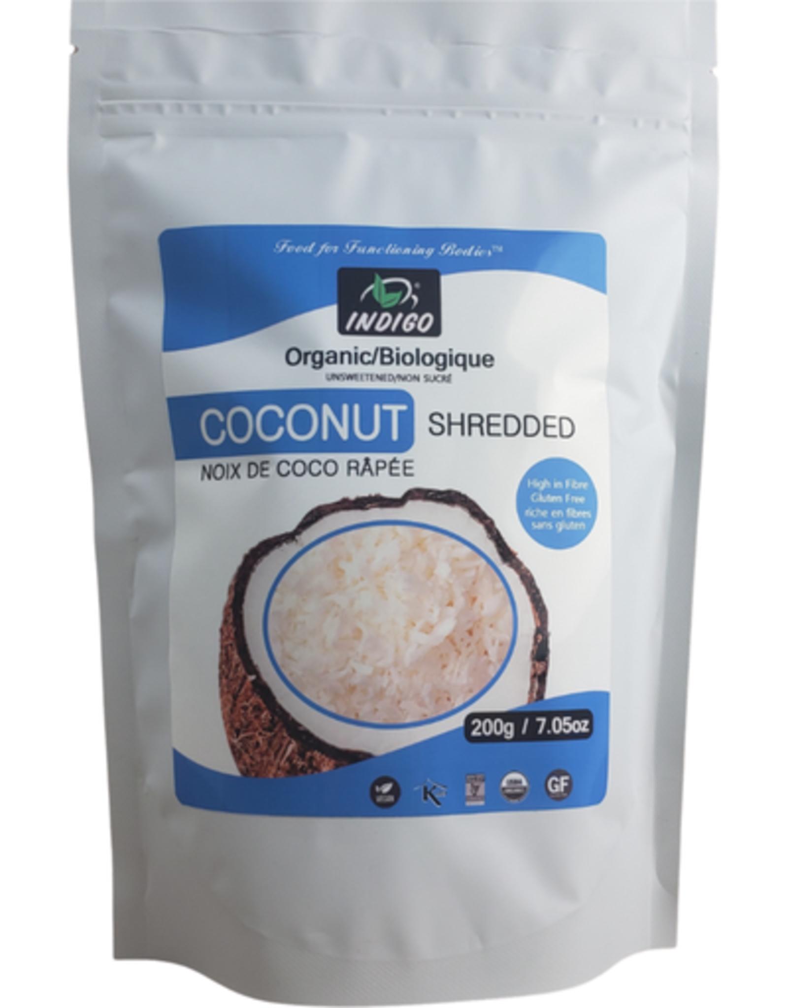 Indigo Indigo- Organic Unsweetened Shredded Coconut, 200g