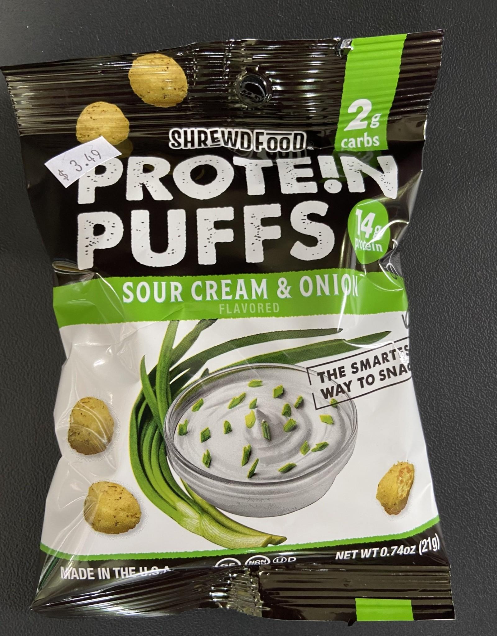 Shrewd Food Shrewd Food - Protein Puffs, Sour Cream & Onion, 21g