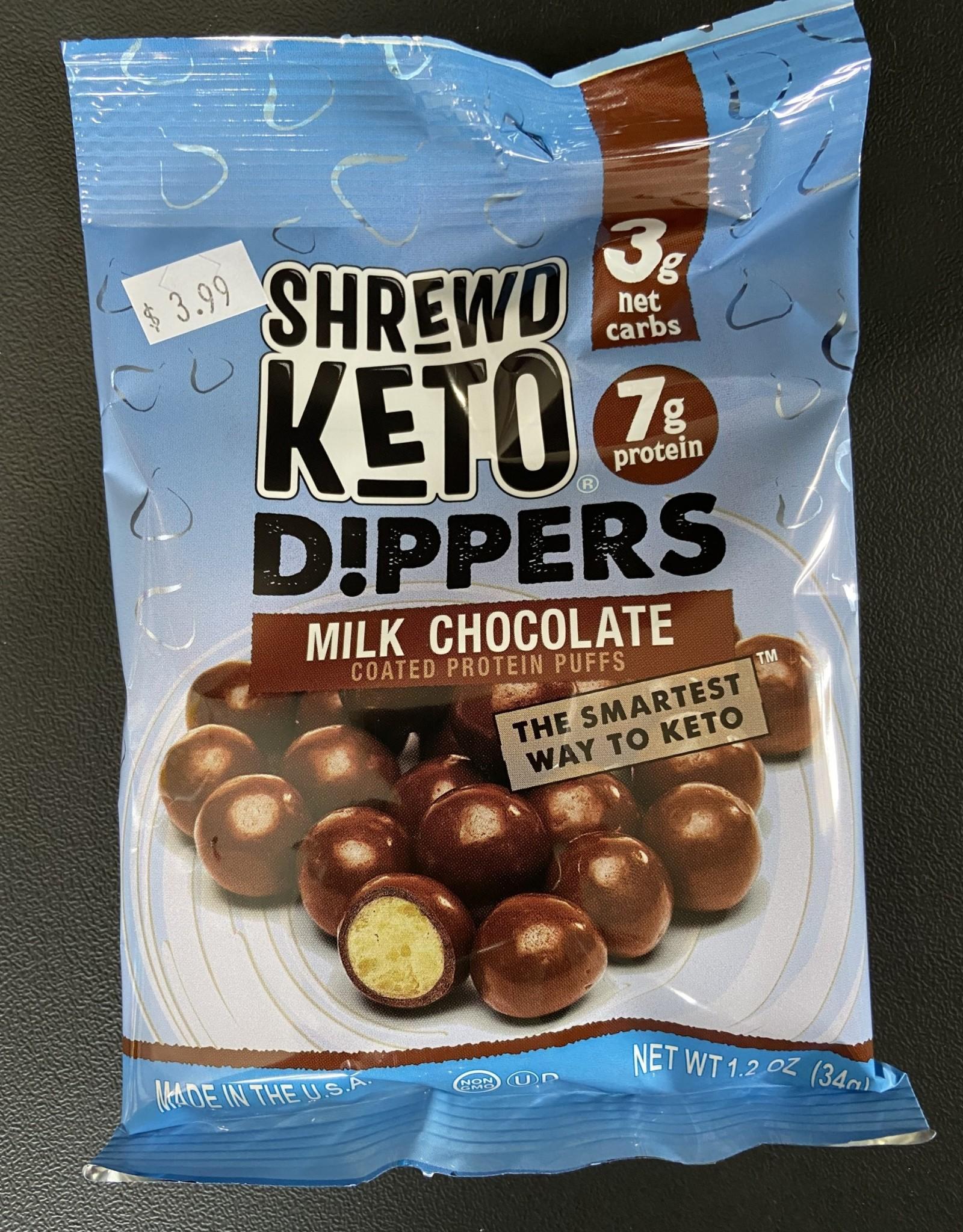 Shrewd Food Shrewd Food - Keto Dippers, Milk Chocolate, 34g