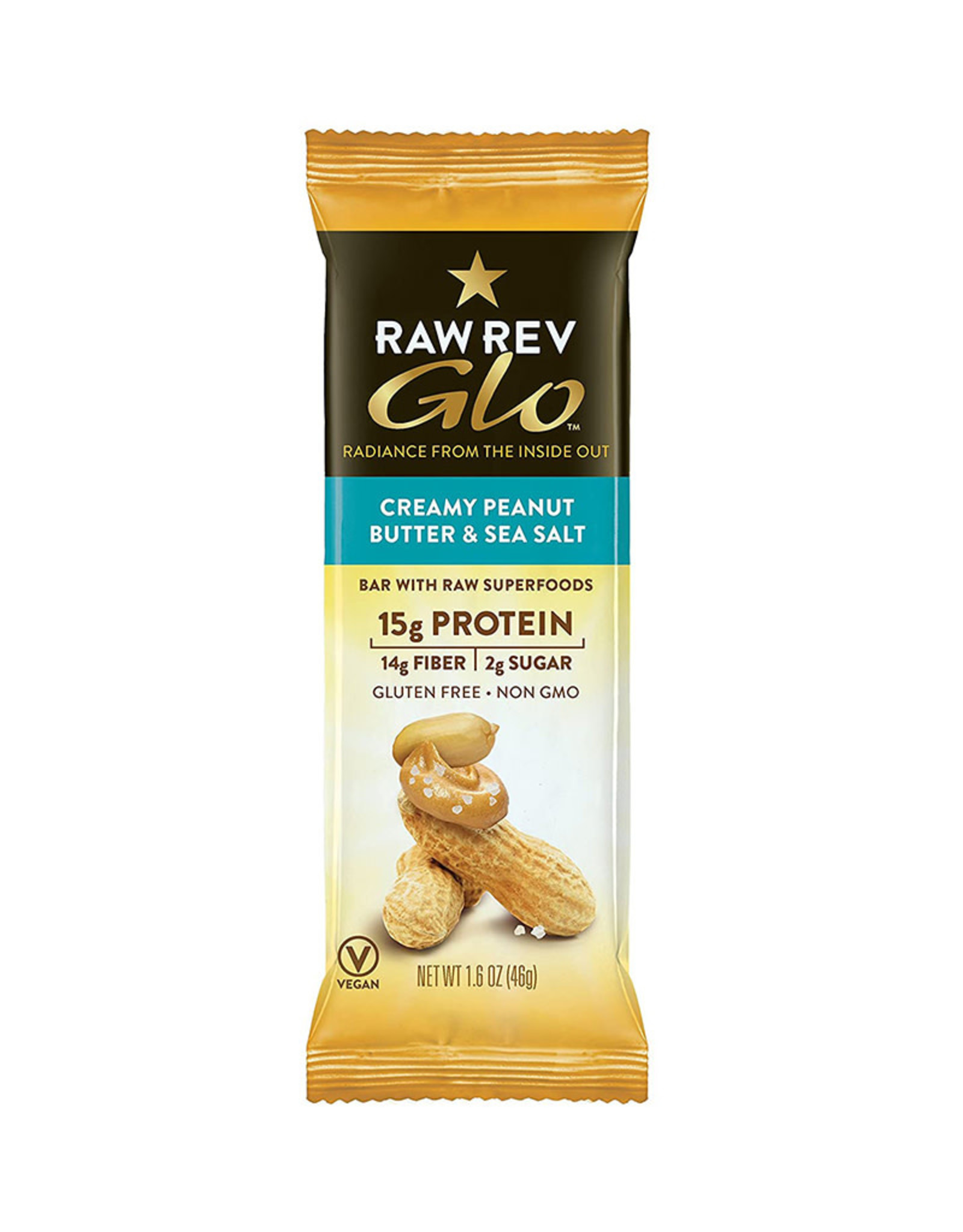 Raw Rev Raw Rev Bar, Creamy Peanut Butter & Sea Salt (46g)