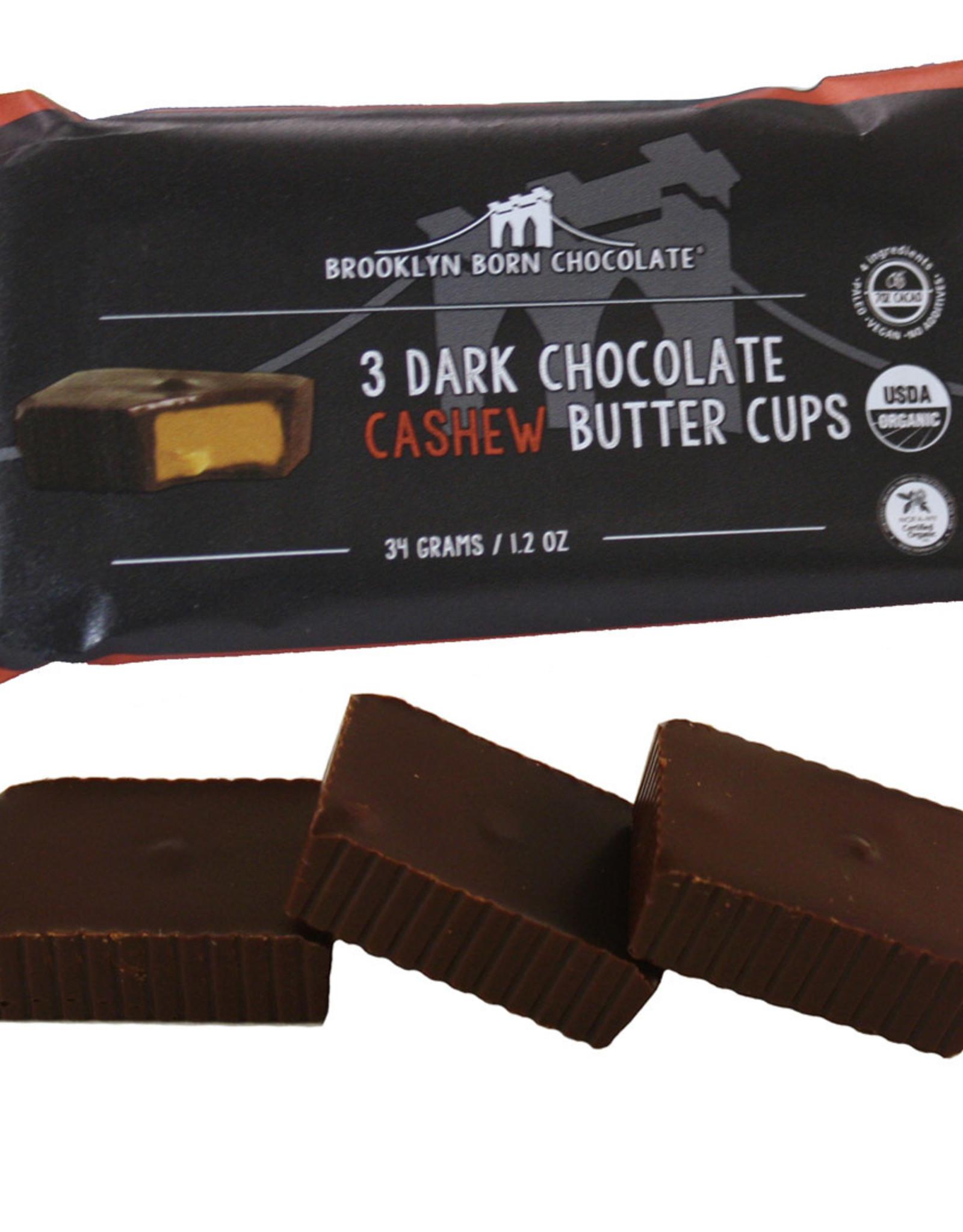 Brooklyn Born Chocolate Brooklyn - Cashew Butter Cups, Dark Chocolate (70g)