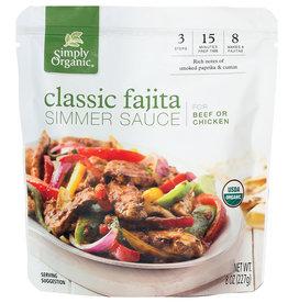 Simply Organic Simply Organic - Classic Fajita, Simmer Sauce (227g)