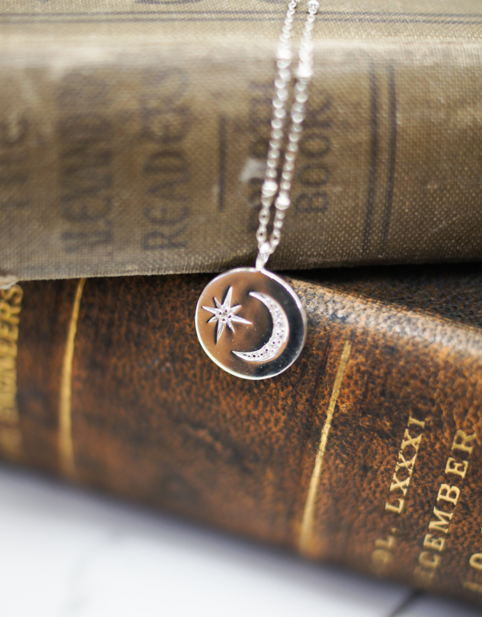 Tashi Moon & Star Disk Necklace