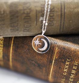 Tashi Moon & Star Disk Necklace