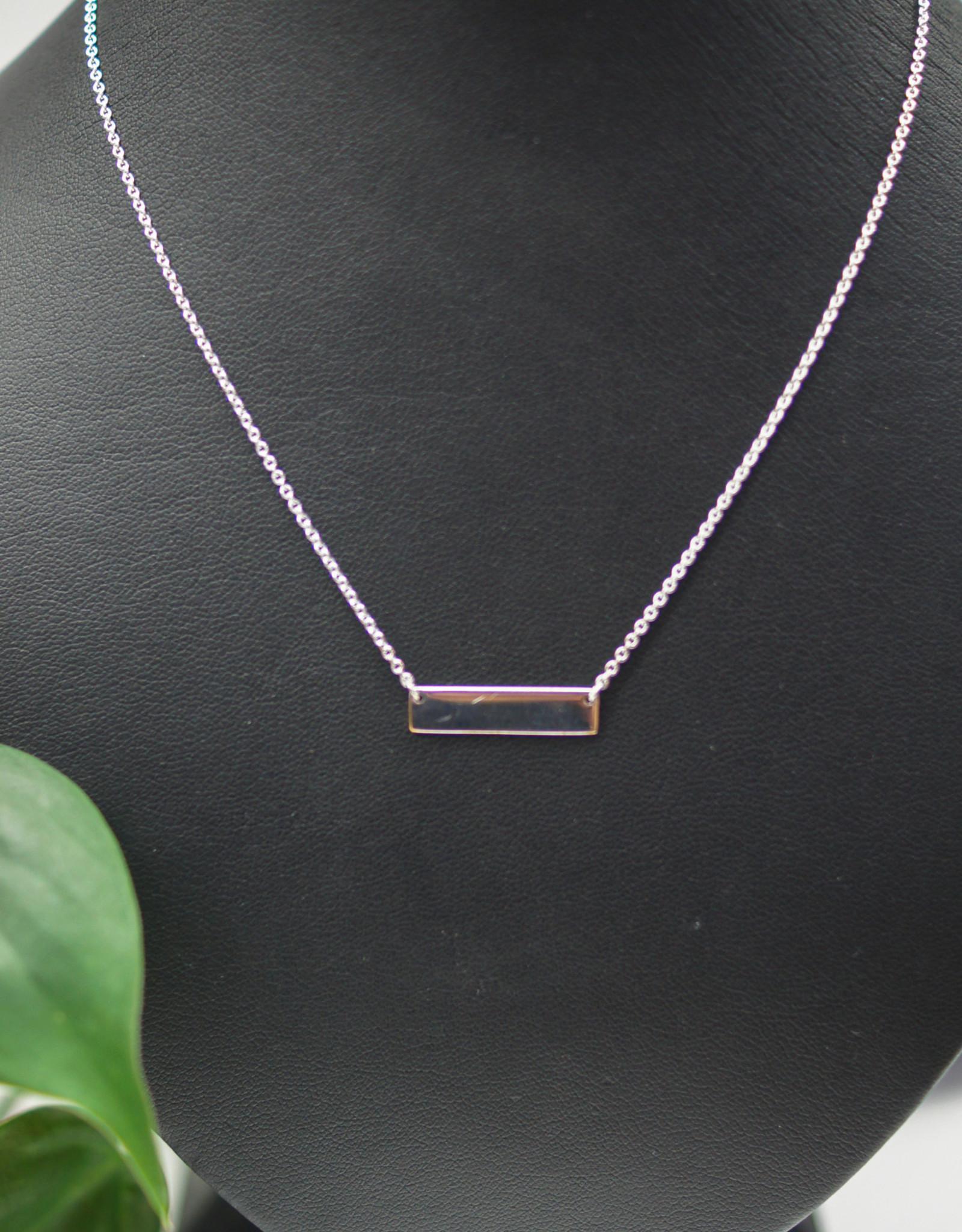 Tashi Engravable Plate Necklace