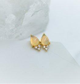 Tashi Pear Shape Opal & Cubic Zirconia Stud Earrings