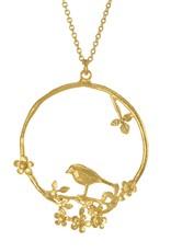 Alex Monroe Floral Bird Loop Necklace