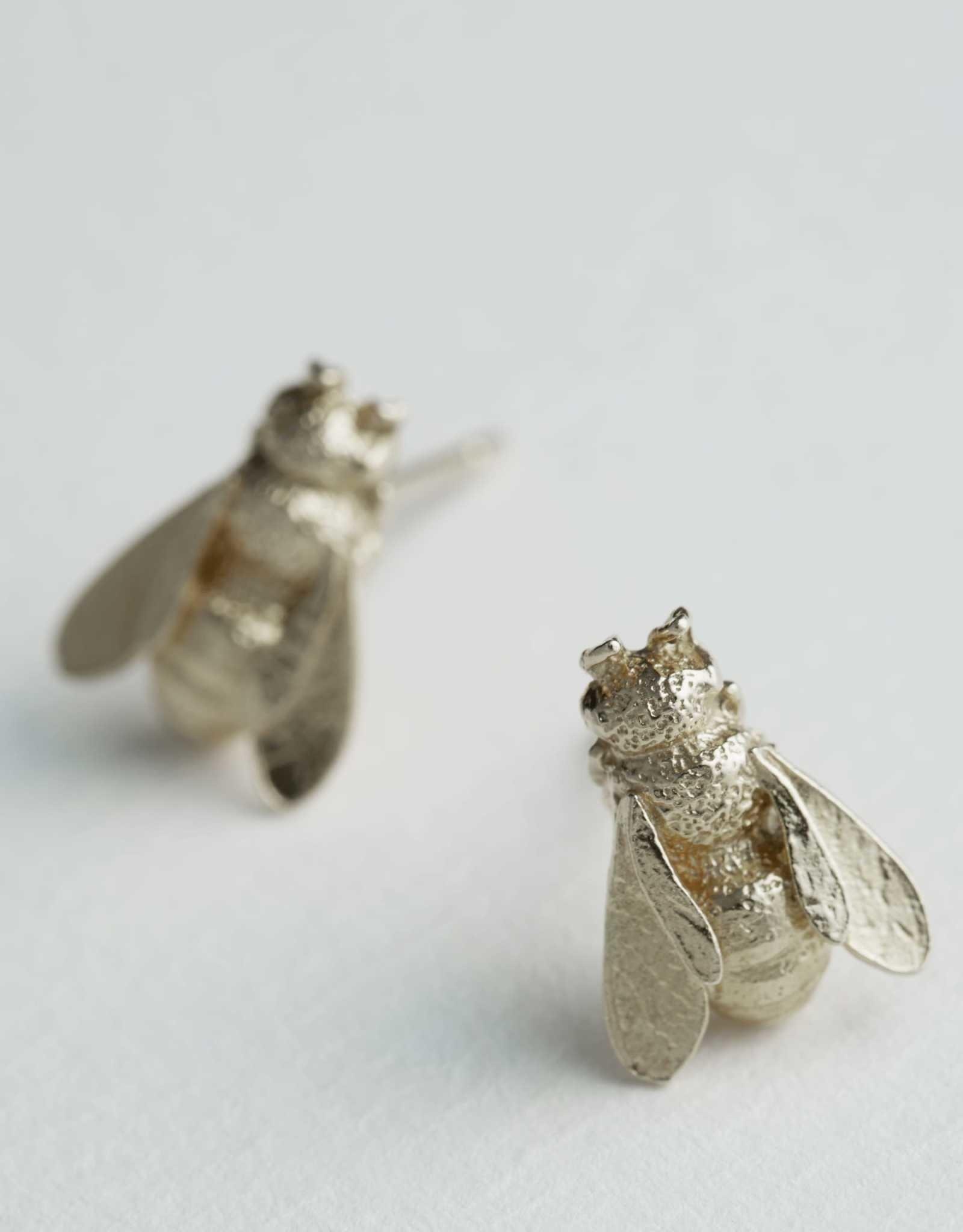 Alex Monroe AM Honey Bee Studs Silver