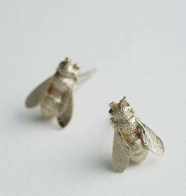 Alex Monroe Honey Bee Studs in Silver