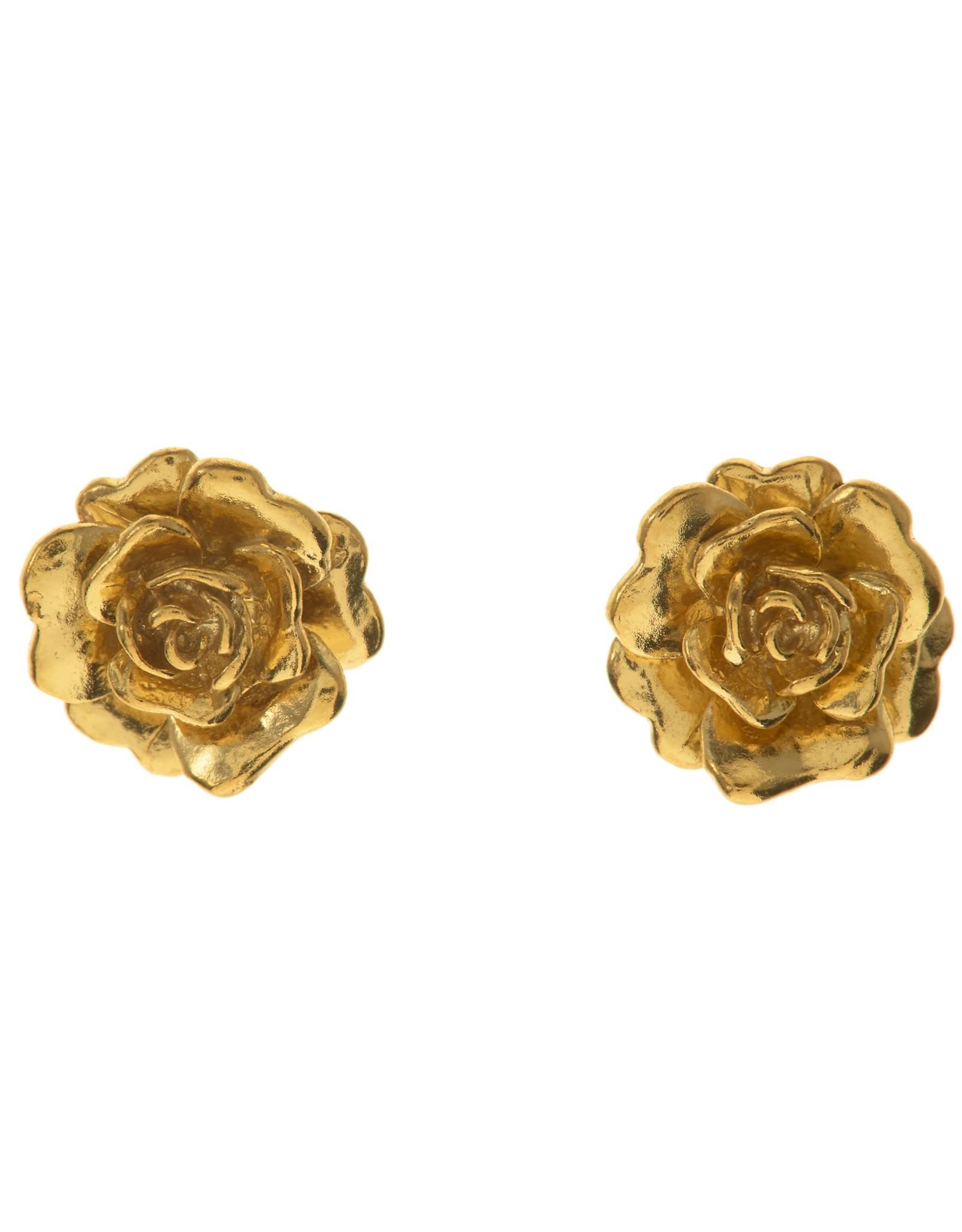Alex Monroe Rosa Damasca Stud Earrings