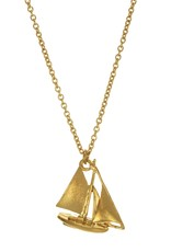 Alex Monroe Sailing Boat Gold Plated