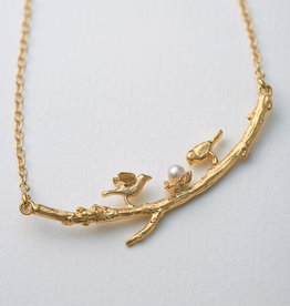 Alex Monroe Two Birds On a Branch Necklace