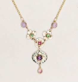 Holly Yashi Amethyst & Sage Eternal Flowers Necklace