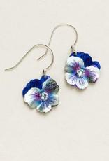 Holly Yashi Blue Classic Pansy Necklace
