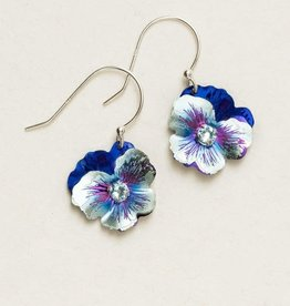 Holly Yashi Blue Classic Pansy Necklace