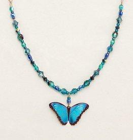 Holly Yashi Blue Radiance Bella Butterfly Beaded Necklace