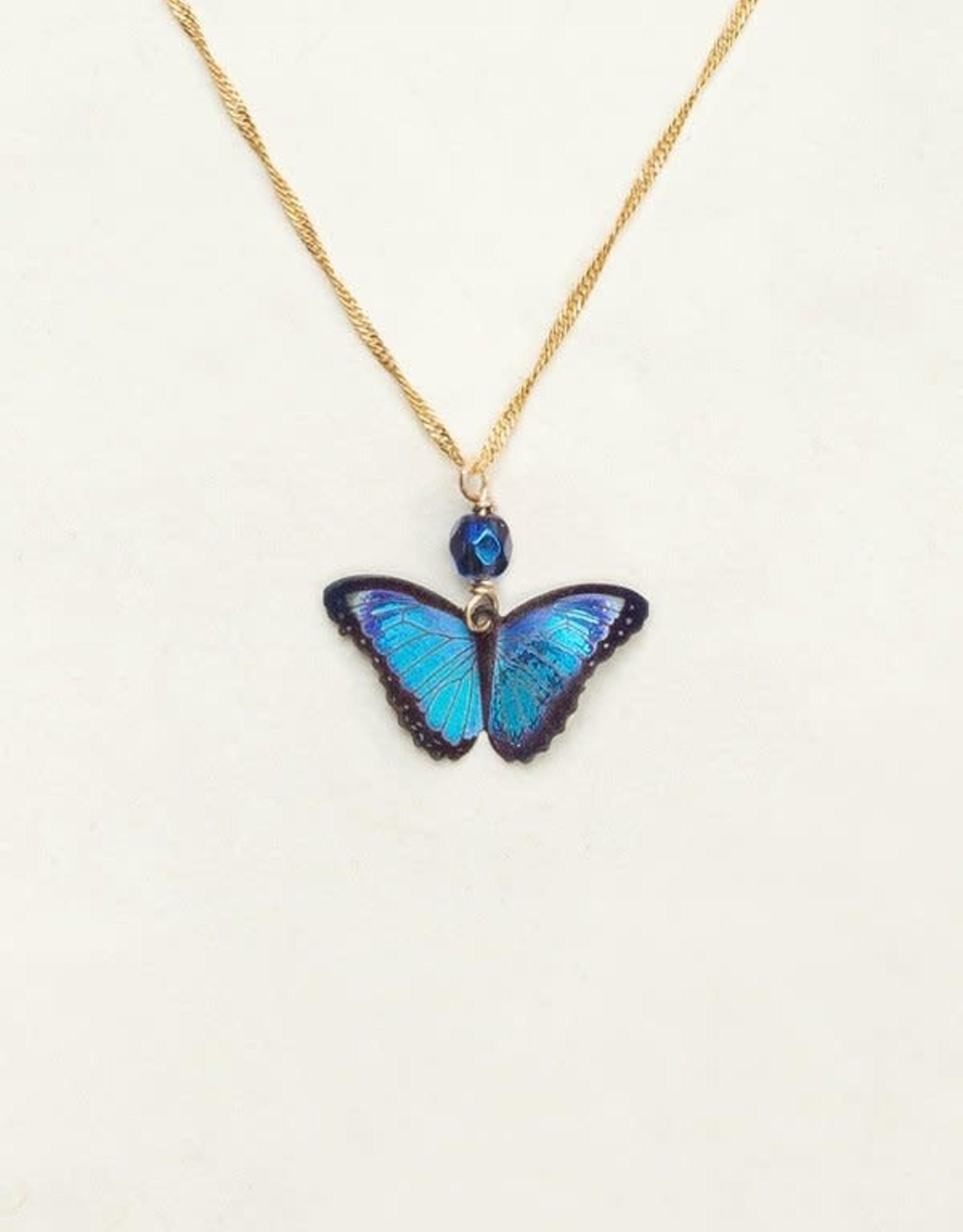 Holly Yashi Blue Radiance Bella Butterfly Pendant Necklace