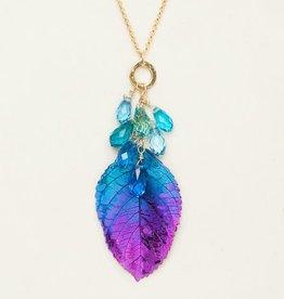 Holly Yashi HY Blue & Purple Cascading Elm Necklace