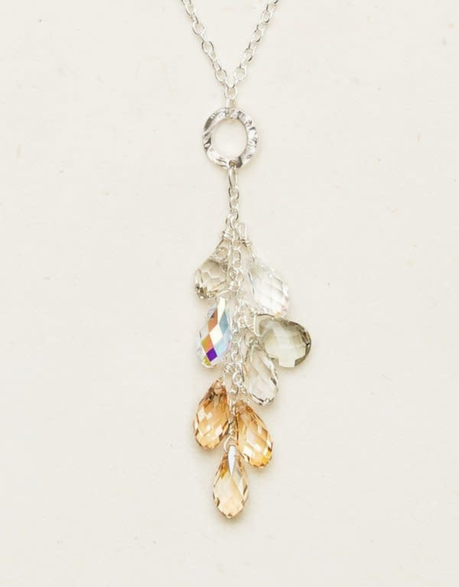 Holly Yashi Champagne Lorelei Cluster Necklace