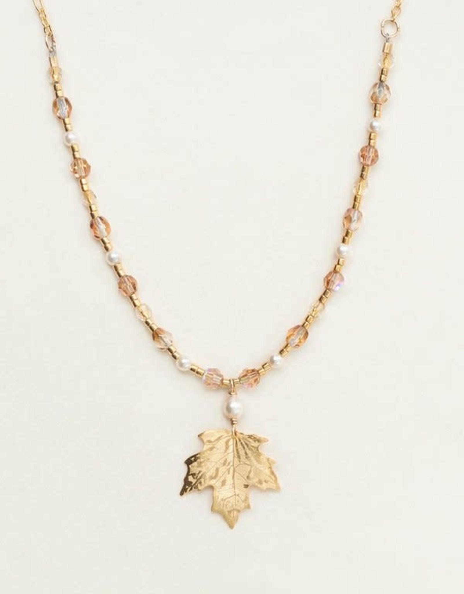 Holly Yashi Gold Sugar Maple Beaded Necklace