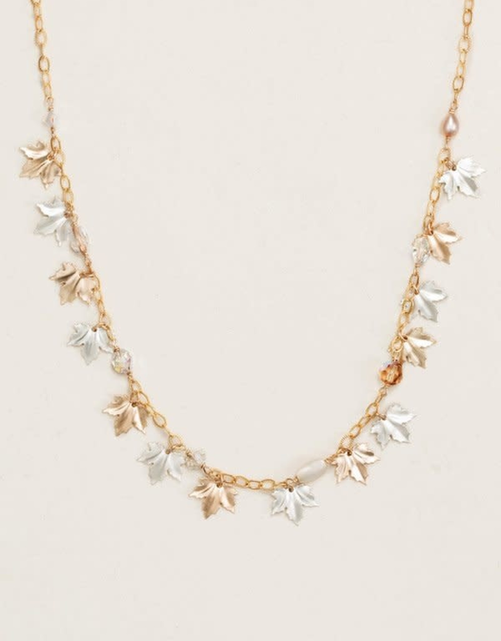 Holly Yashi HY Gold/Silver Maple Leaf Classic Necklace