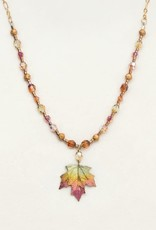Holly Yashi Peach Sugar Maple Beaded Necklace