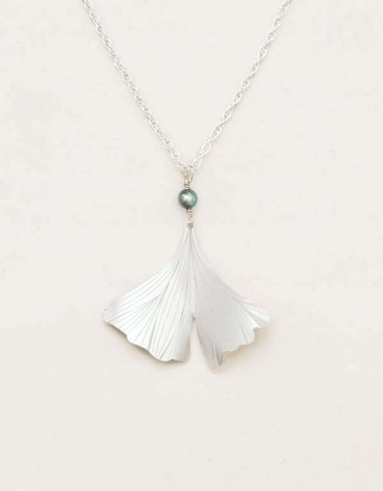 Holly Yashi Silver Ginkgo Pendant Necklace