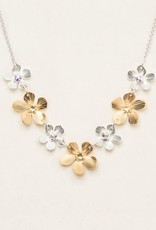 Holly Yashi Silver & Gold Plumeria Classic Necklace