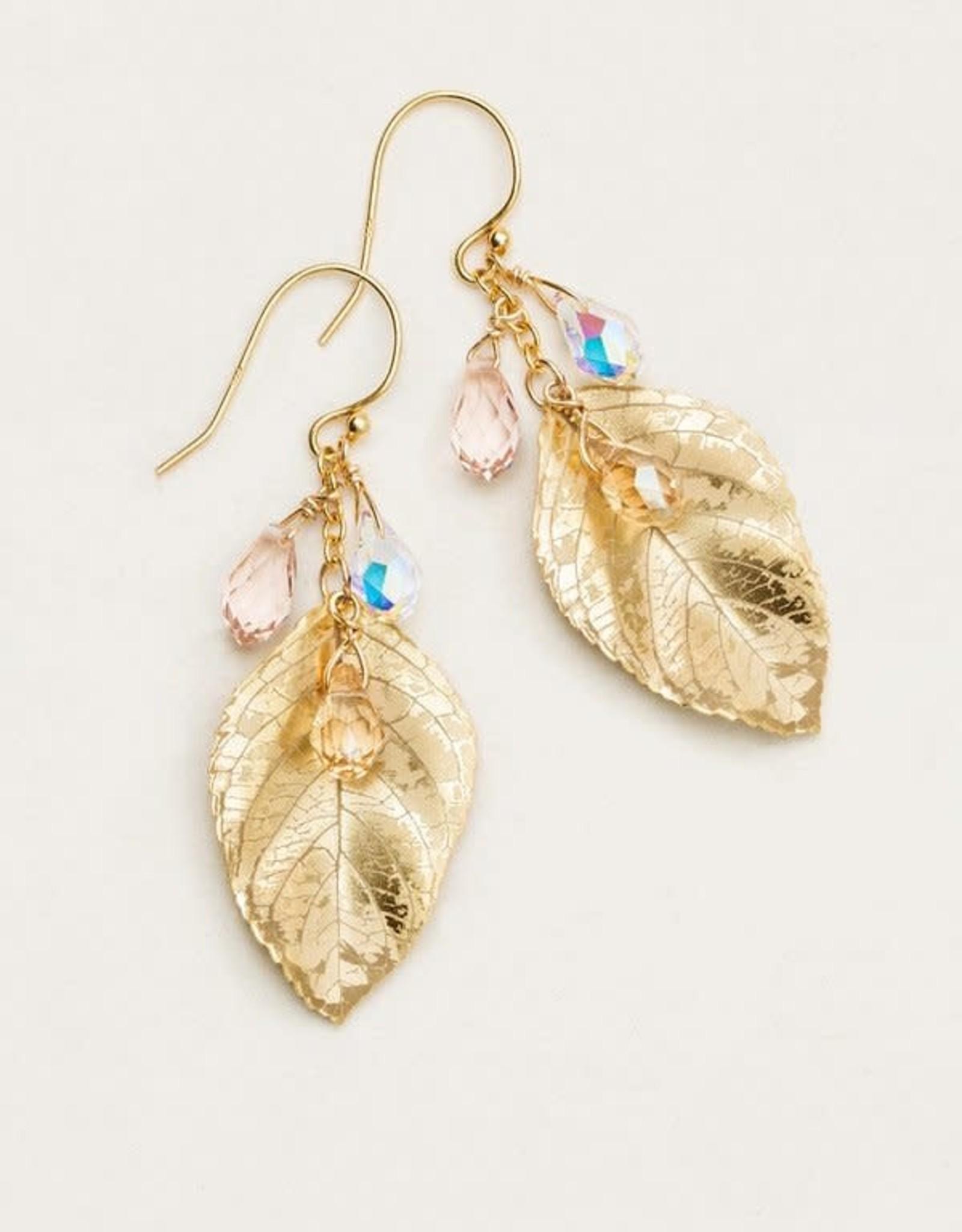 Holly Yashi Gold Cascading Elm Earrings