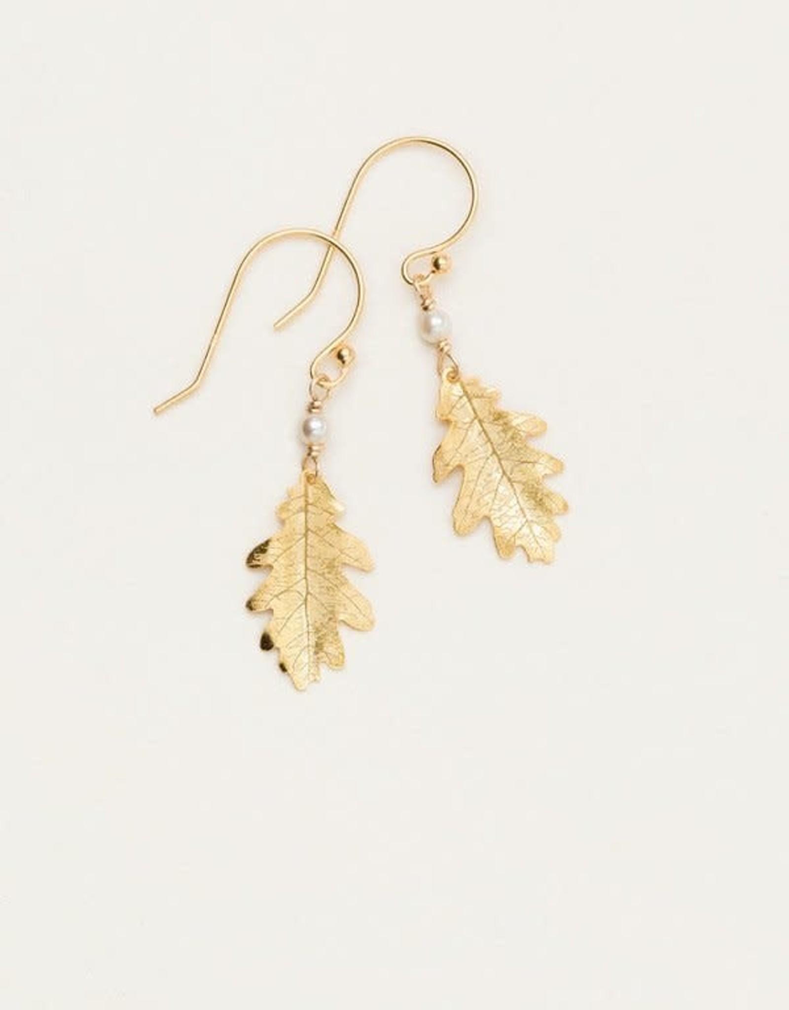 Holly Yashi Gold Royal Oak Earrings