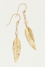 Holly Yashi Gold Shimmering Willow Earrings