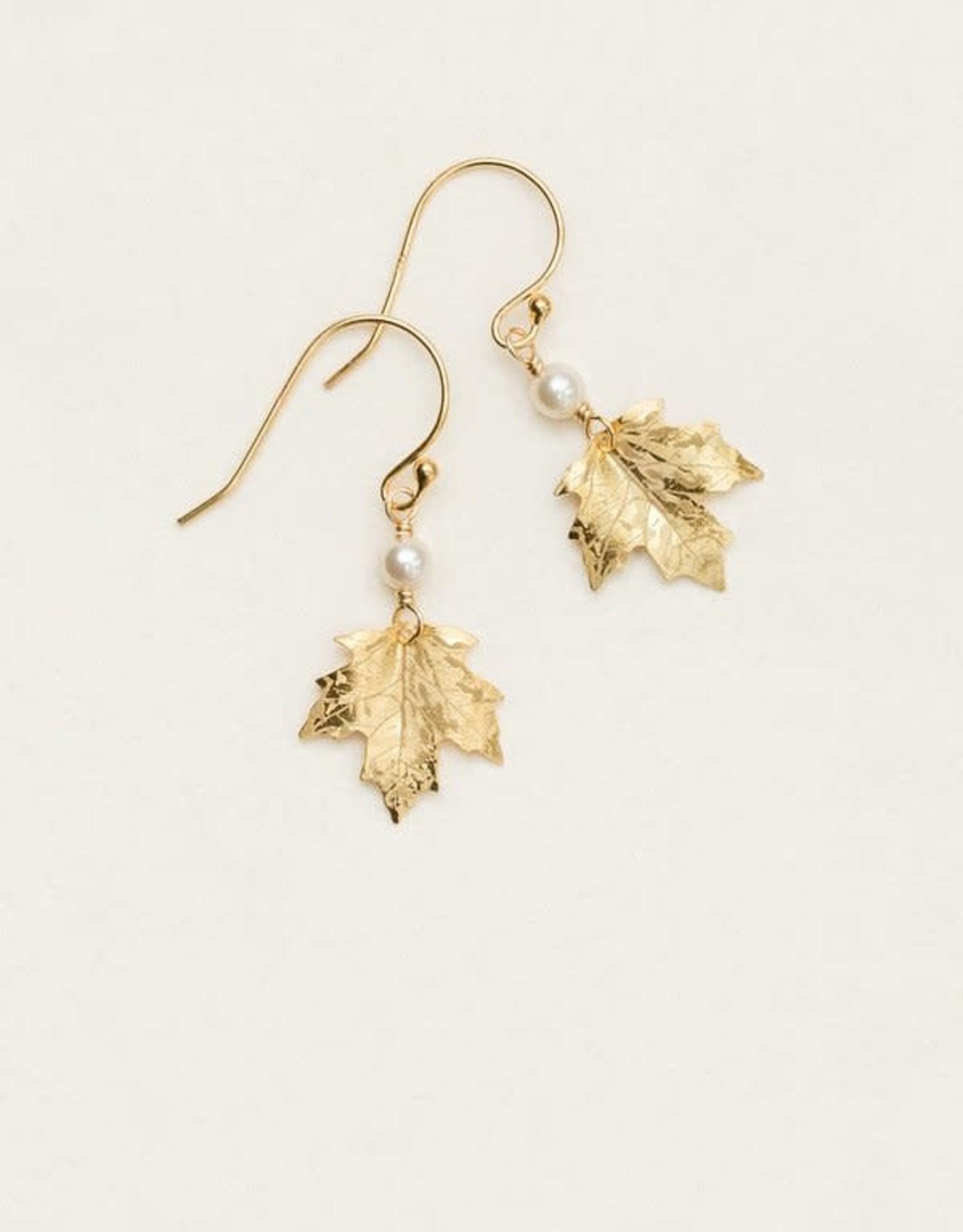 Holly Yashi Gold Sugar Maple Earrings