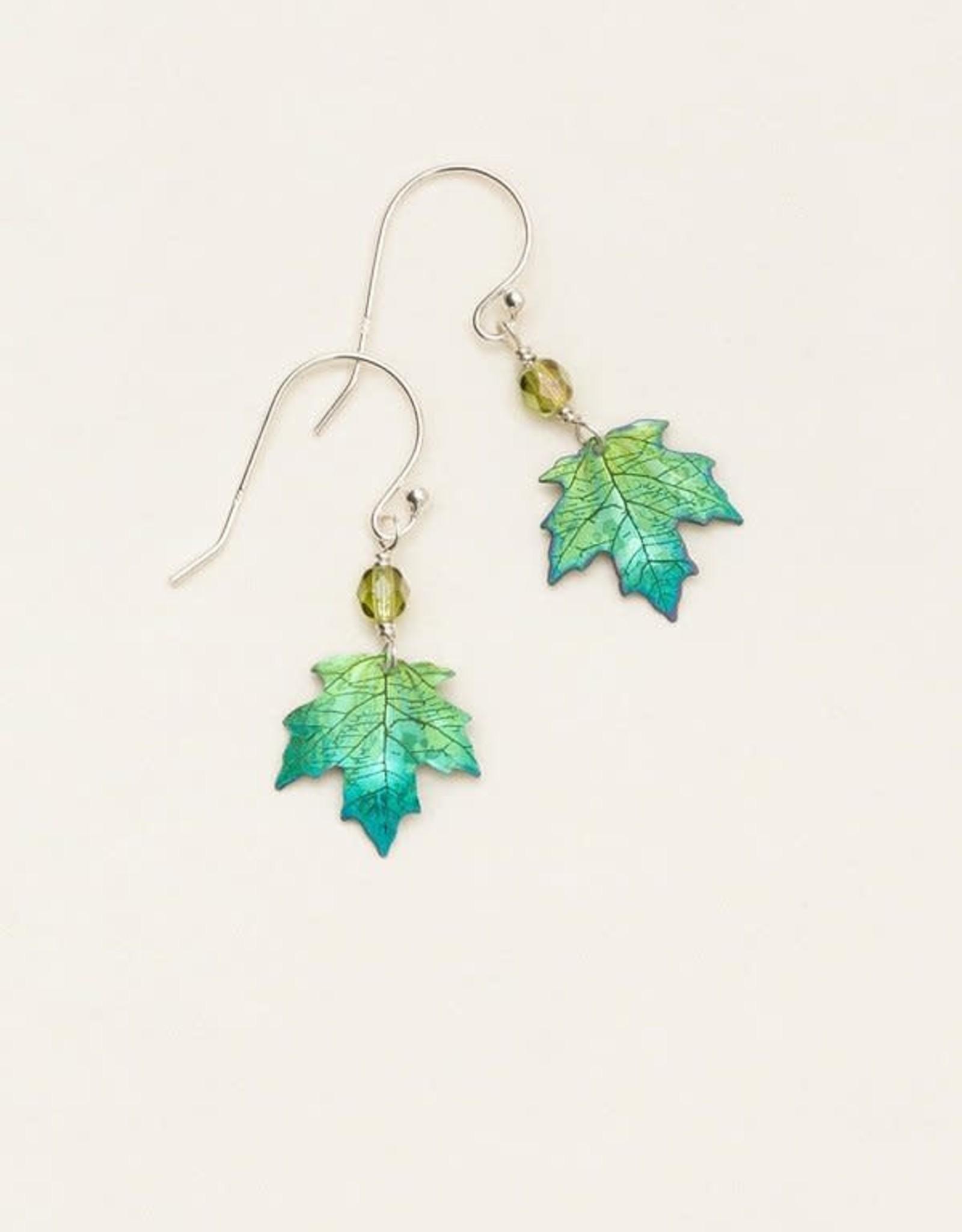 Holly Yashi Green Sugar Maple Earrings