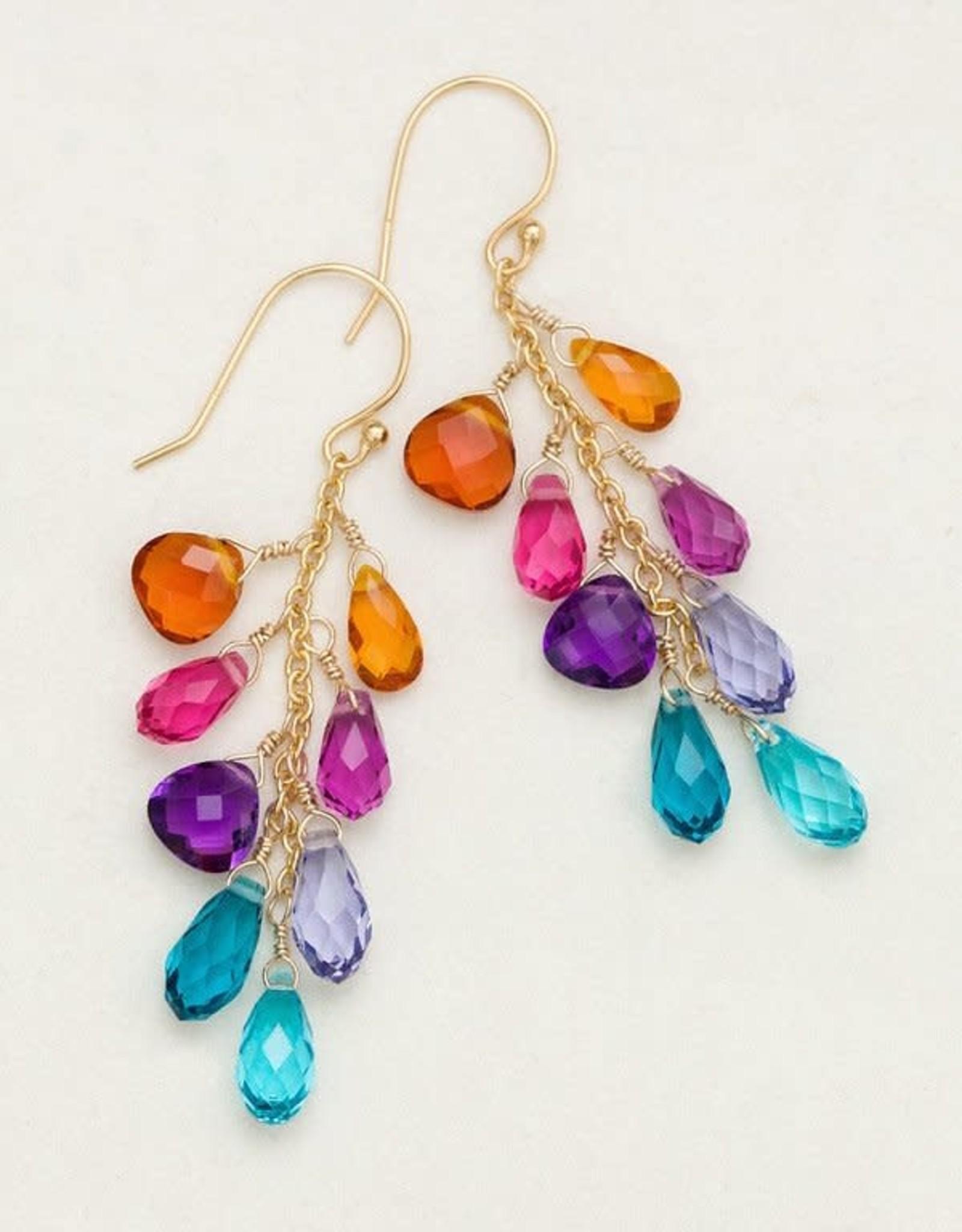 Holly Yashi Multi Lorelei Cluster Earrings