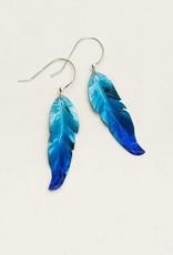 Holly Yashi Navy Blue Petite Free Spirit Feather Earrings