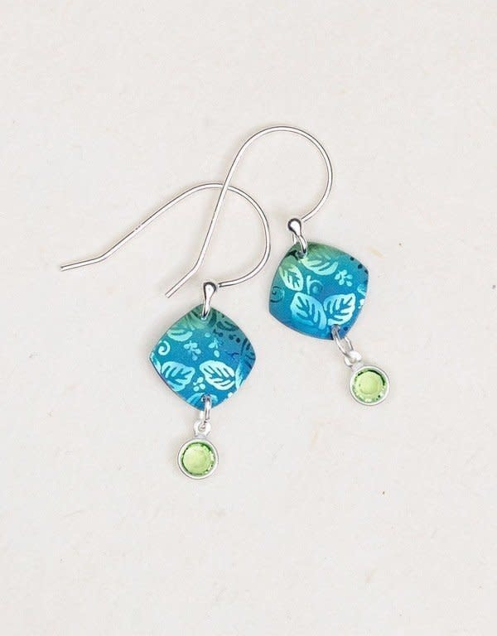 Holly Yashi Ocean Square Leaf Earrings