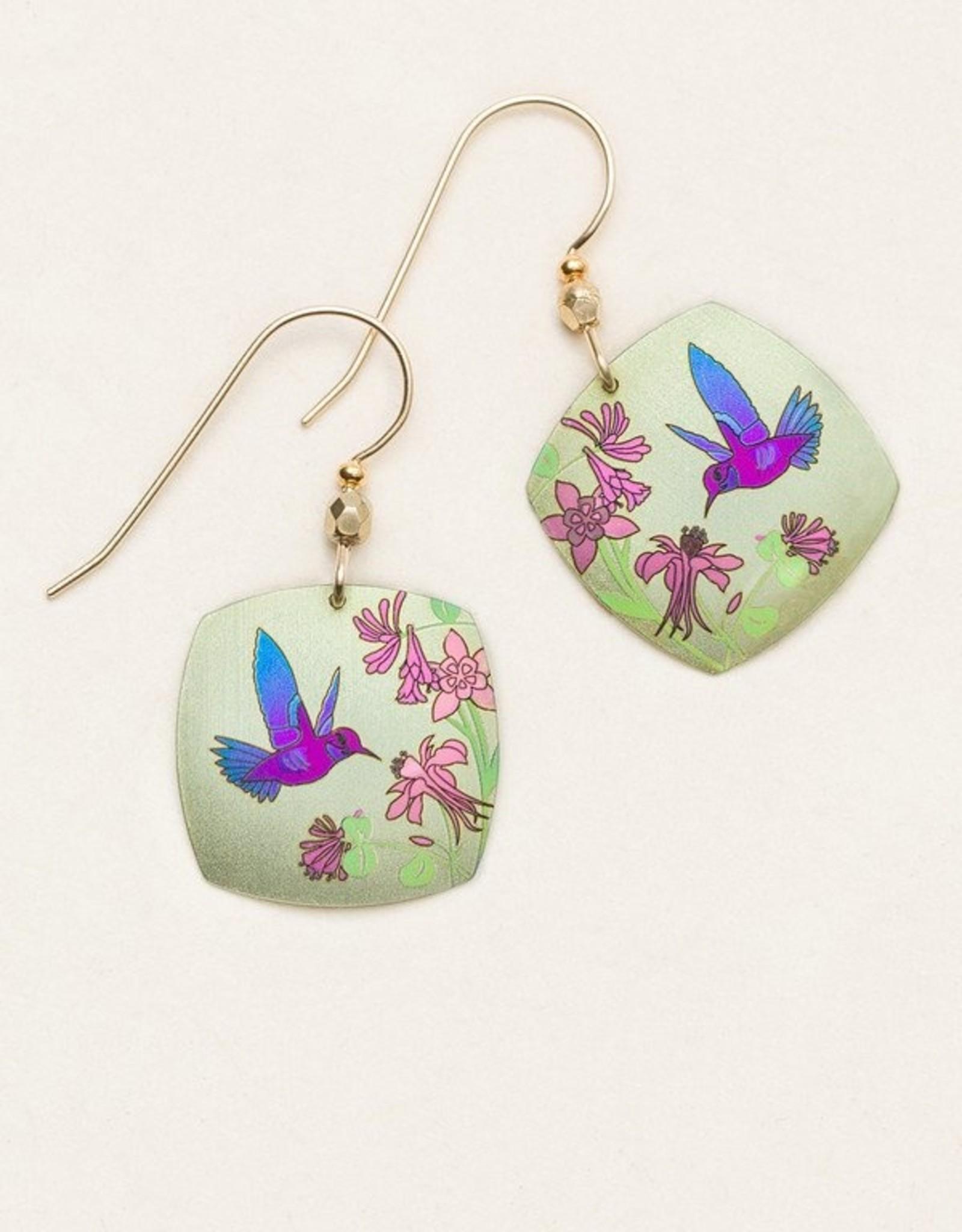 Holly Yashi Sage Hummingbird Spring Earrings