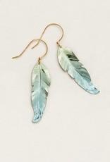 Holly Yashi Sage Petite Free Spirit Feather Earrings